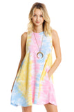 Happy Memories Tie Dyed Beach Short Sleeve Dress