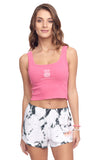 Cotton Sleeveless Crop Tank