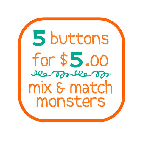 5 buttons for $5 - fishcakes