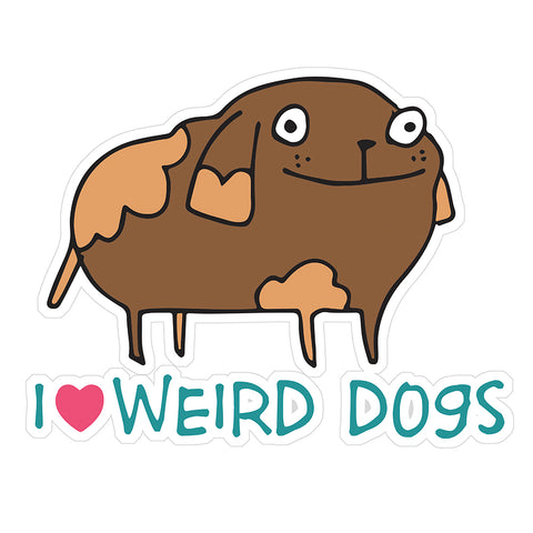 Weird Dogs - sticker - fishcakes