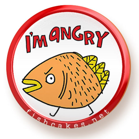 Angry - magnet - fishcakes