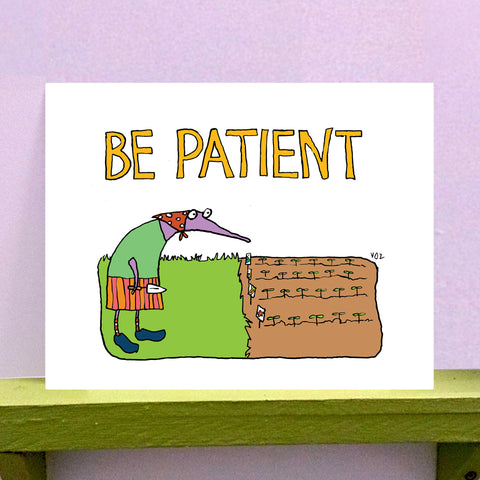 Be Patient - 8 x 10 print - fishcakes