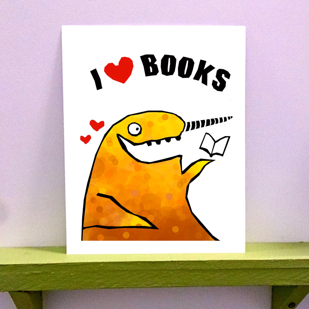 Books - 8 x 10 print - fishcakes