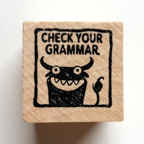 Check Your Grammar - Teacher Rubber Stamp - fishcakes