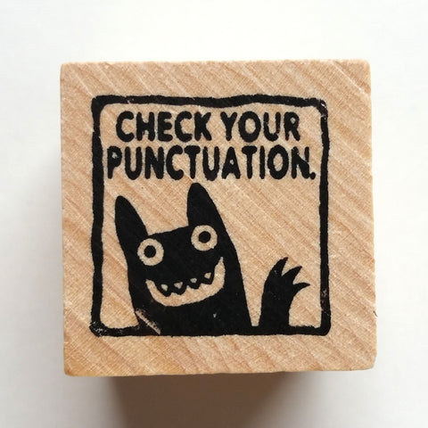 Check Your Punctuation - Teacher Rubber Stamp - fishcakes