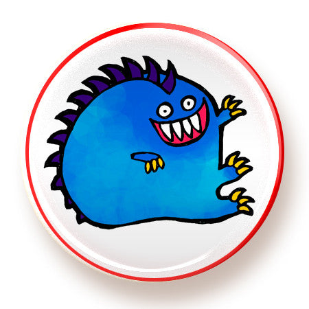 Blue Monster - button - fishcakes