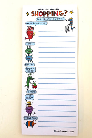Shopping List Pad - fishcakes