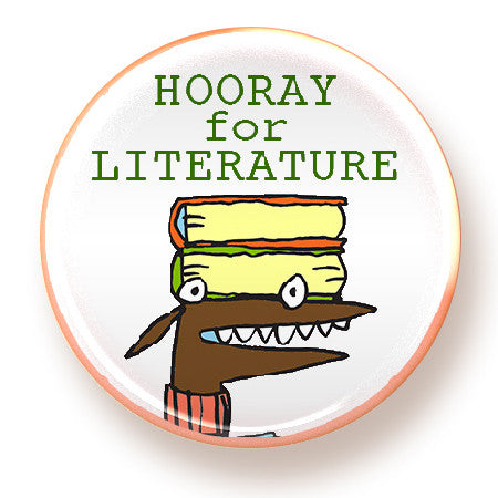 Hooray for Literature - magnet - fishcakes