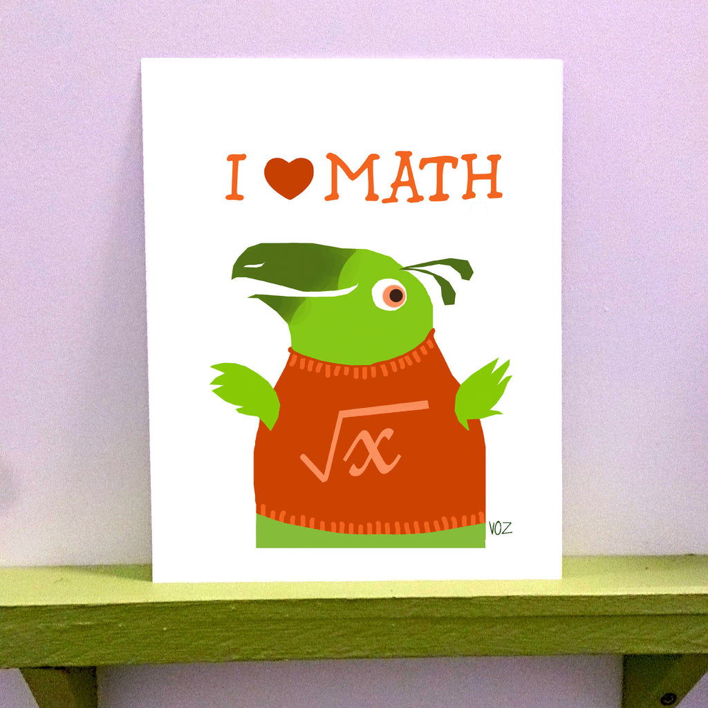 Math - 8 x 10 print - fishcakes
