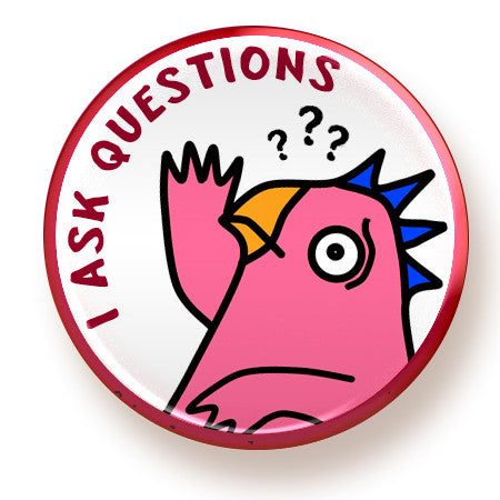 Questions - button - fishcakes