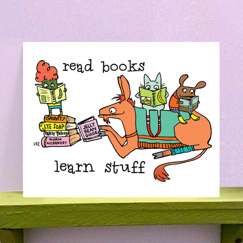 Read Books - 8 x 10 print - fishcakes