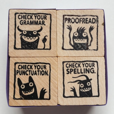 Monster Rubber Stamps for Teachers - set #1 - fishcakes