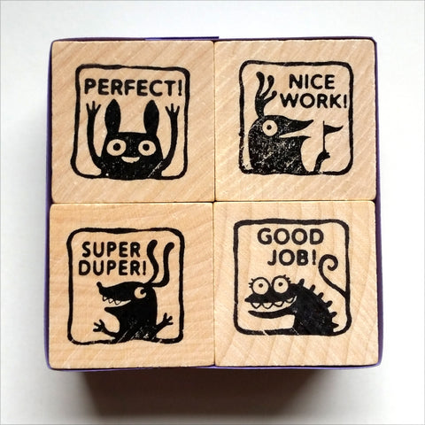 Monster Rubber Stamps for Teachers - set #2 - fishcakes