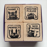 Monster Rubber Stamps for Teachers - set #3 - fishcakes