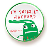 Socially Awkward - button - fishcakes