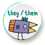 They / them - button - fishcakes