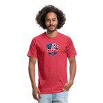 OATH Fitted Cotton/Poly T-Shirt - heather red