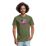 OATH Fitted Cotton/Poly T-Shirt - heather military green