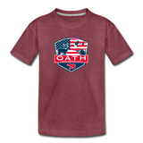 OATH Kids' Premium T-Shirt - heather burgundy