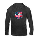 OATH Unisex Tri-Blend Hoodie Shirt - heather black