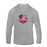 OATH Unisex Tri-Blend Hoodie Shirt - heather gray