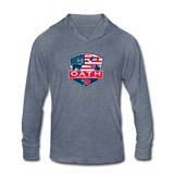 OATH Unisex Tri-Blend Hoodie Shirt - heather blue