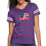 Women's Vintage Sport T-Shirt - vintage purple/white