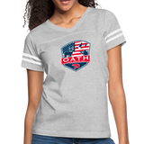 Women's Vintage Sport T-Shirt - heather gray/white