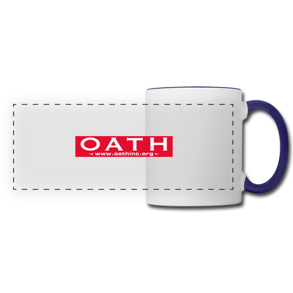 OATH Panoramic Mug - white/cobalt blue