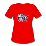 OATH RED Women's Moisture Wicking Performance T-Shirt - red