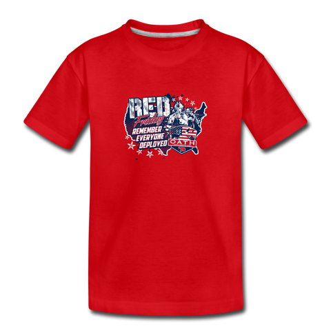 OATH RED Kids' Premium Cotton T-Shirt - red