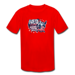 OATH RED Kid's Moisture Wicking Performance T-Shirt - red