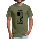 Fitted Cotton/Poly T-Shirt - heather military green