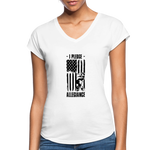 Women's Tri-Blend V-Neck T-Shirt - white