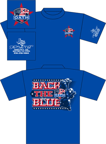 OATH BACK THE BLUE T-SHIRT