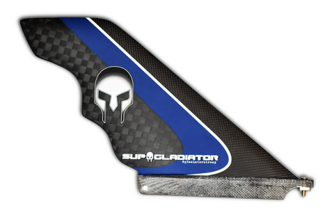 Blue Full Carbon SUP Gladiator Pro Model Race Fin