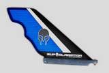 Carbon and Honeycomb SUP Gladiator Hybrid Race Fin in blue