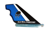 Blue Carbon and Honeycomb SUP Gladiator Hybrid Race Fin