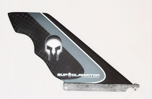 Gray Full Carbon SUP Gladiator Hybrid Race Fin