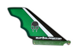 Green Carbon and Honeycomb SUP Gladiator Hybrid Race Fin