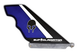 Carbon and Honeycomb SUP Gladiator Hybrid Race Fin in Purple