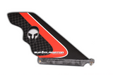 Red Full Carbon SUP Gladiator Hybrid Race Fin