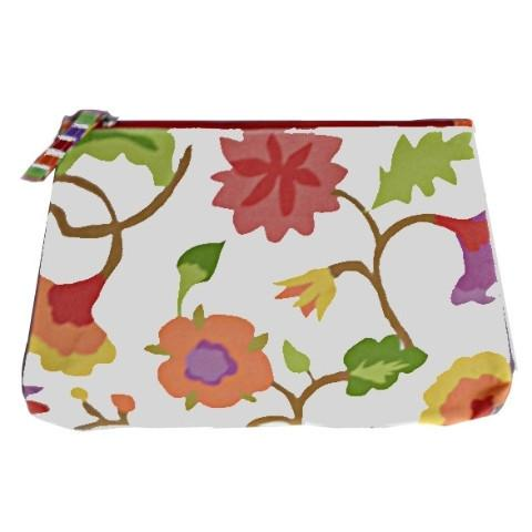 Crewel Print Cosmetic Bag