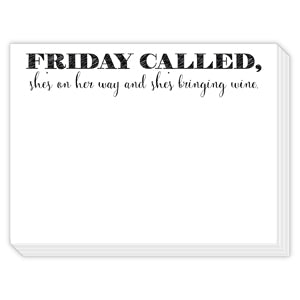 Friday Called Mini Slab Notepad
