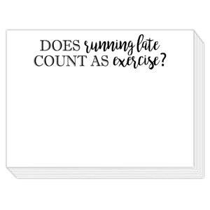 Running Late Mini Slab Notepad