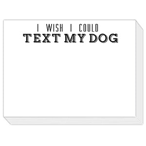 Text My Dog Mini Slab Notepad