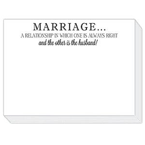 Marriage Mini Slab Notepad