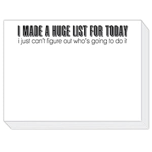 I Made A Huge List Slab Notepad