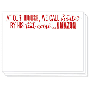 We Call Santa Amazon Notepad