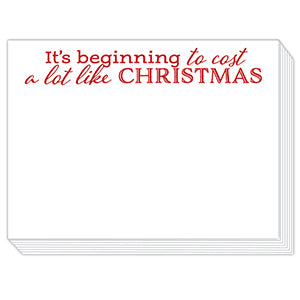 Cost A Lot Like Christmas Mini Slab Notepad